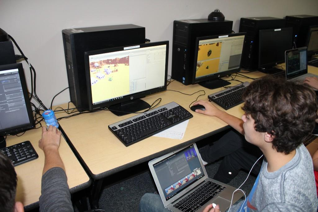 Gaming II students program video games.