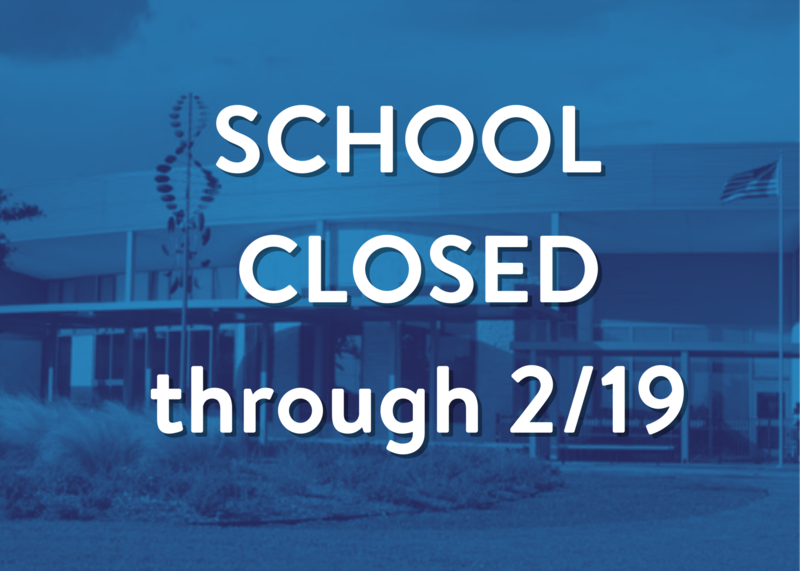 School closure continues through Friday, February 19 Featured Photo