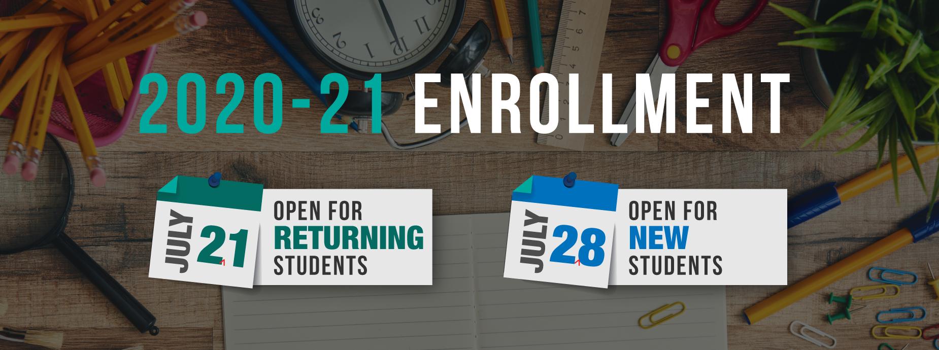 2020-21 Enrollment Banner