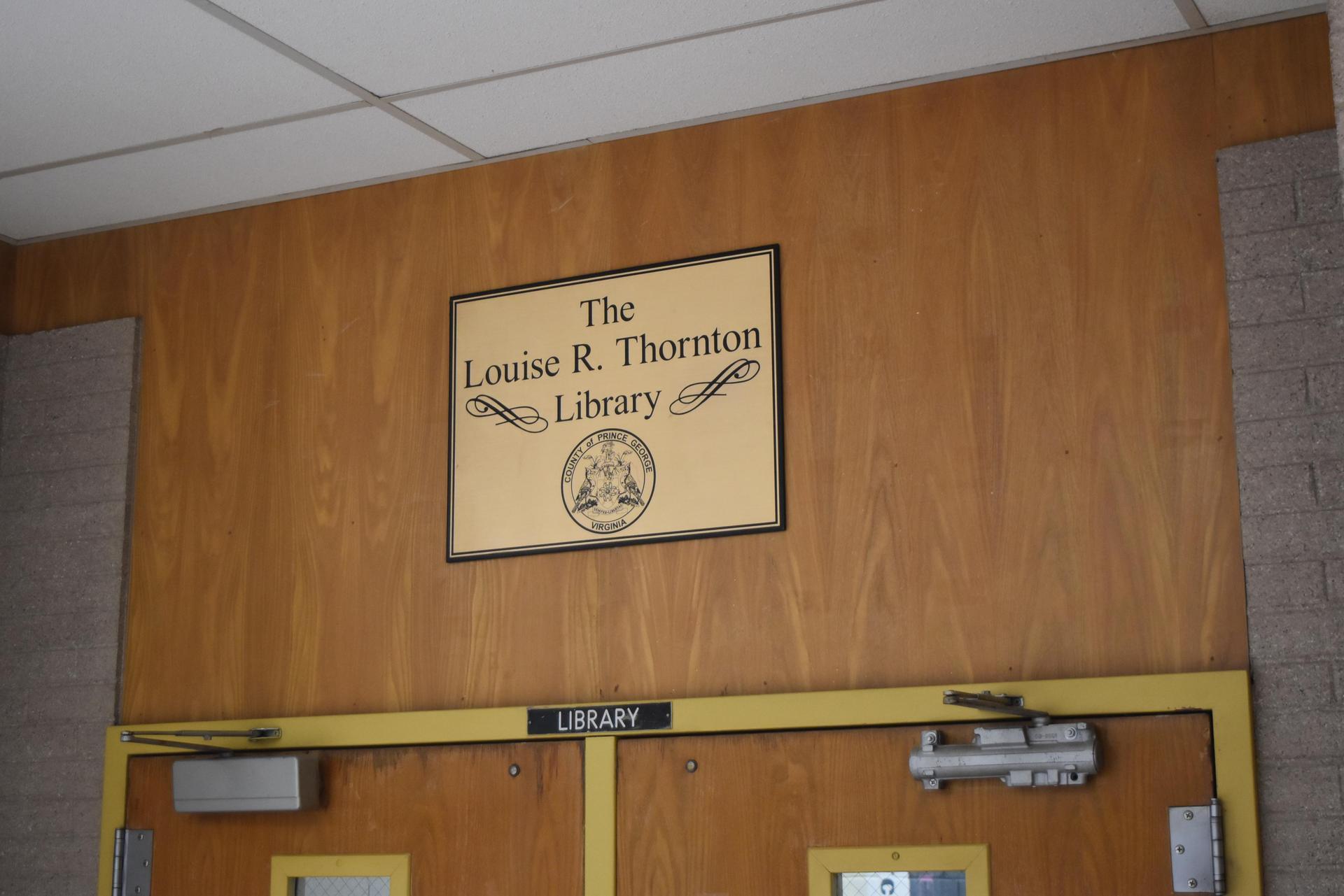 Thornton Library Dedication
