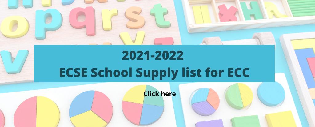 ECSE school supplies 2021-2021