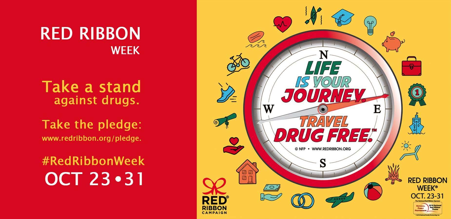 Red Ribbon Week - Stop Drugs