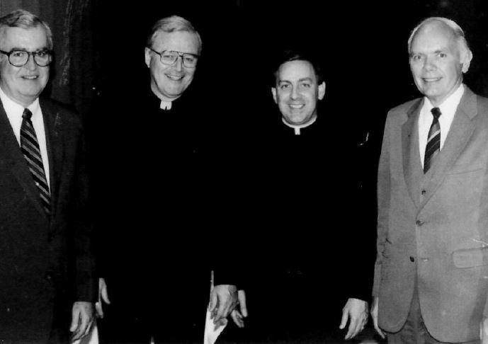 Four former principals at Xavier.High School.