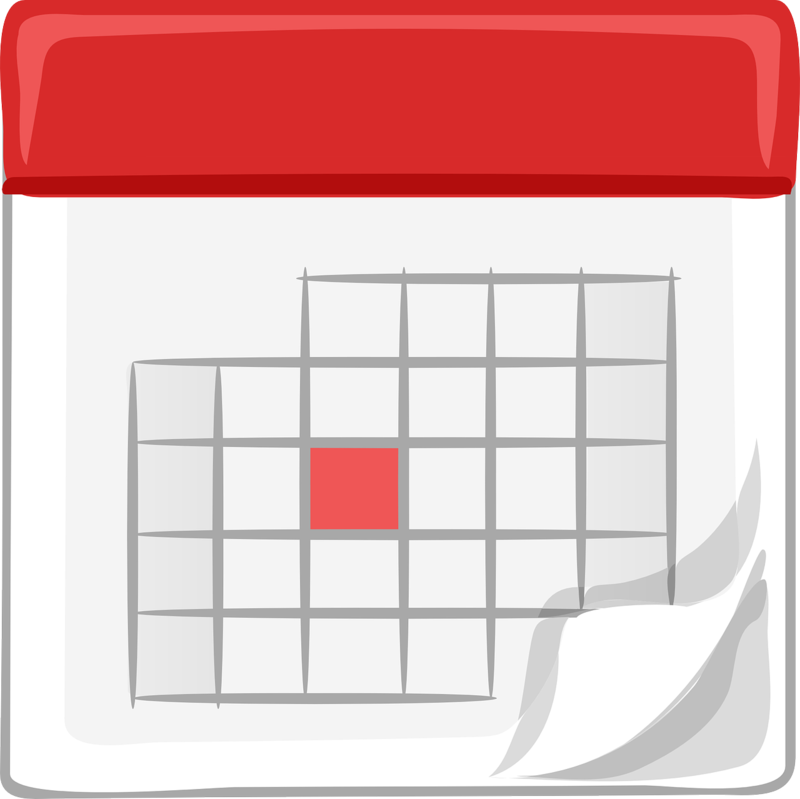 Clip Art of Generic Calendar page to represent release of school year calendar
