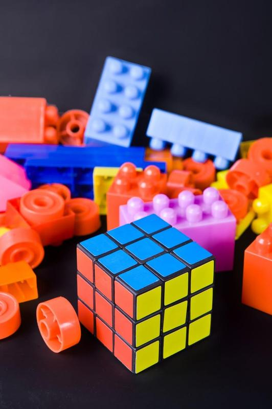 Legos and Rubik's Cube - Picture from Pexels, No Att. Req.