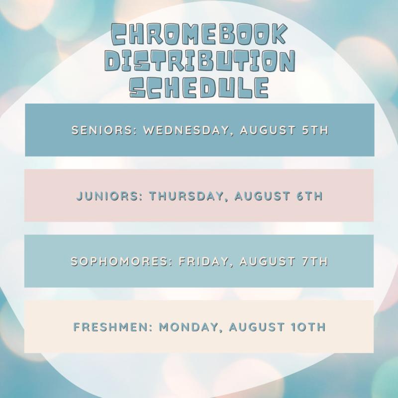 Chromebook Distribution Schedule Featured Photo