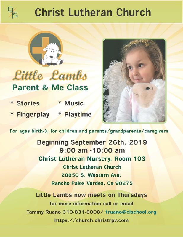 Little Lambs- Parent & Me Classes Meet on Thursday Mornings Featured Photo