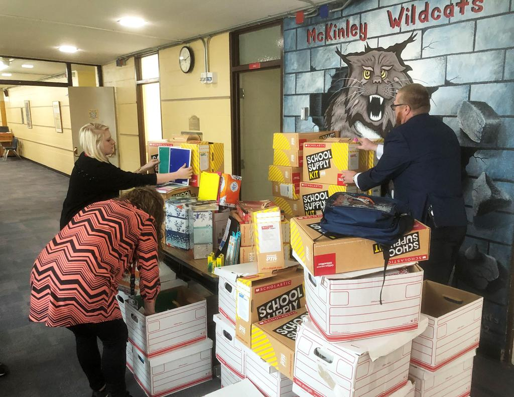 City Auto Plaza and Office Depot donate school supplies to McKinley group picture 2