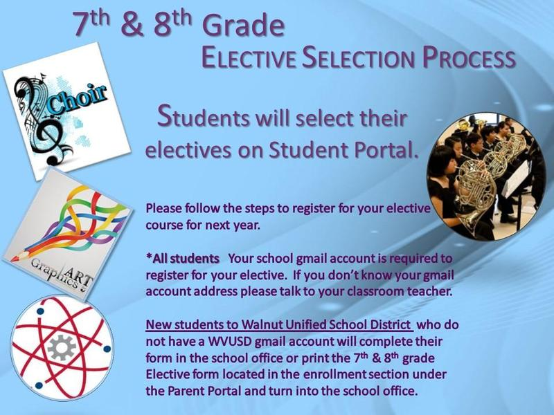 7th and 8th Grade Elective Selection Process Featured Photo