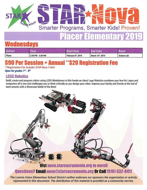 Flyer for Lego Robotics