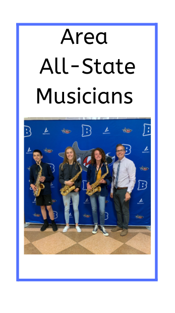 poster showing 3 students musicians and Mr. Hoffman