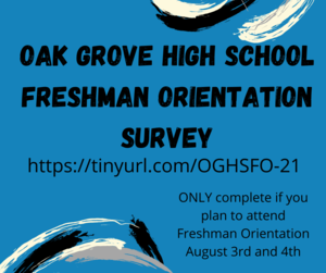 Freshman Orientation August 3rd and 4th