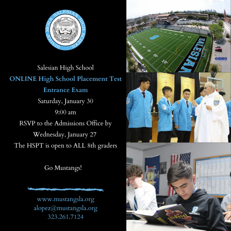 ONLINE High School Placement Test this Saturday Featured Photo