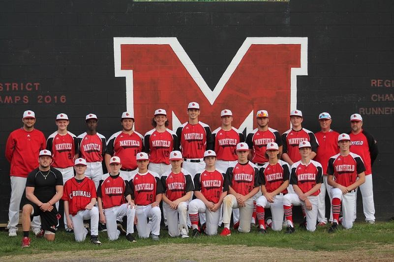 Picture of Mayfield High School Baseball Team in Uniform