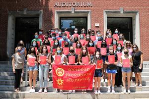 Forty Westfield High School students were inducted into the National Spanish Honor Society, among 83 students overall who were inducted into World Language honor societies for 2020-2021.