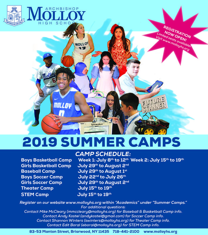 Molloy Summer Camps Enrolling Now! Featured Photo