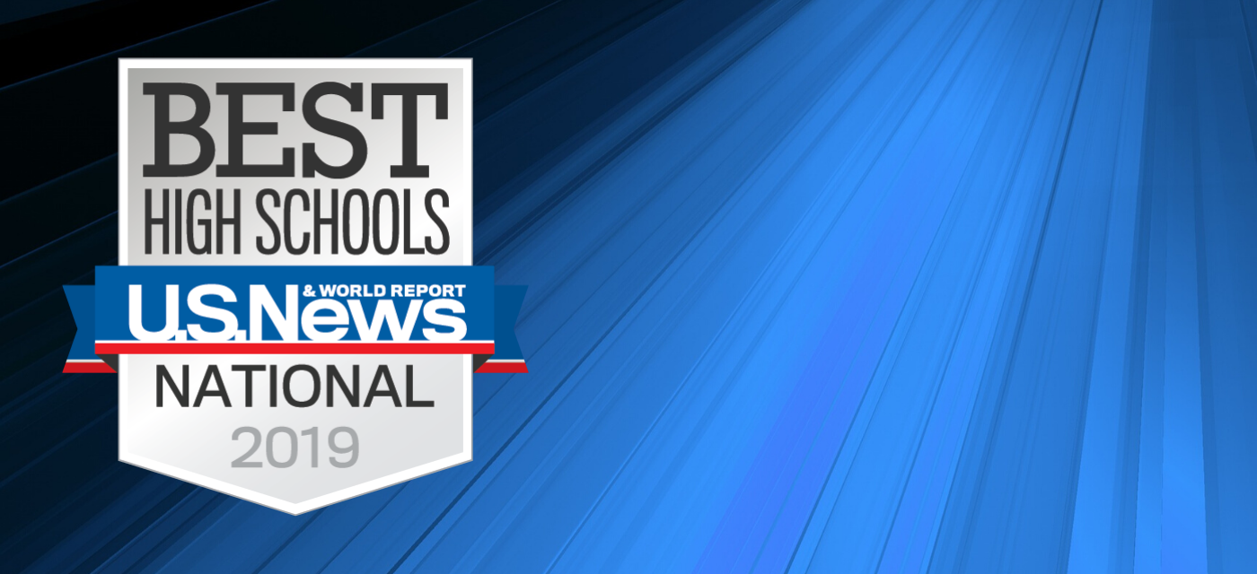 US News & World Report Best High School 2019 badge