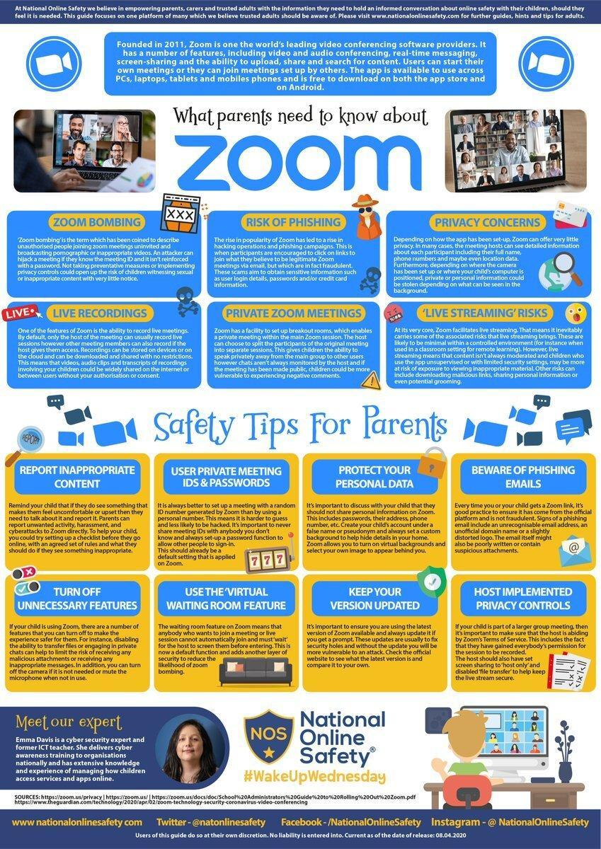 Zoom Safety for parents