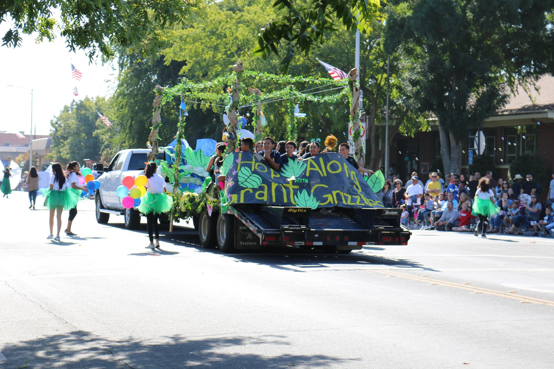 Grant Float in the Reedley Fiesta Parade