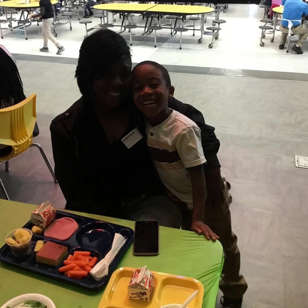 CCPS student with parent