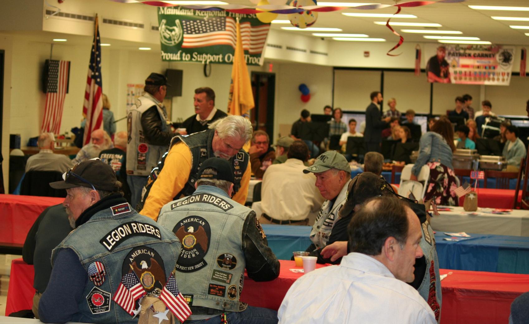 Veterans gather for the breakfast