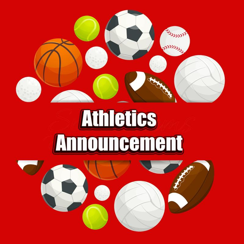 Athletics Announcement