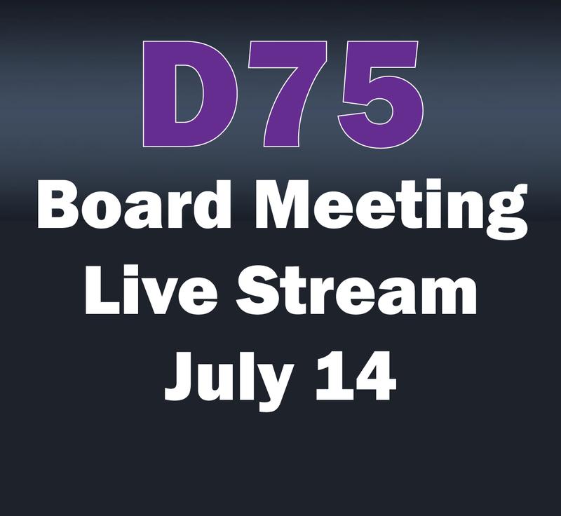 D75 Board Meeting Live Stream