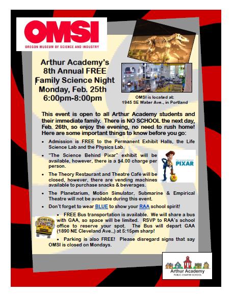 Free OMSI Family Science Night w/AA February 25th! Thumbnail Image