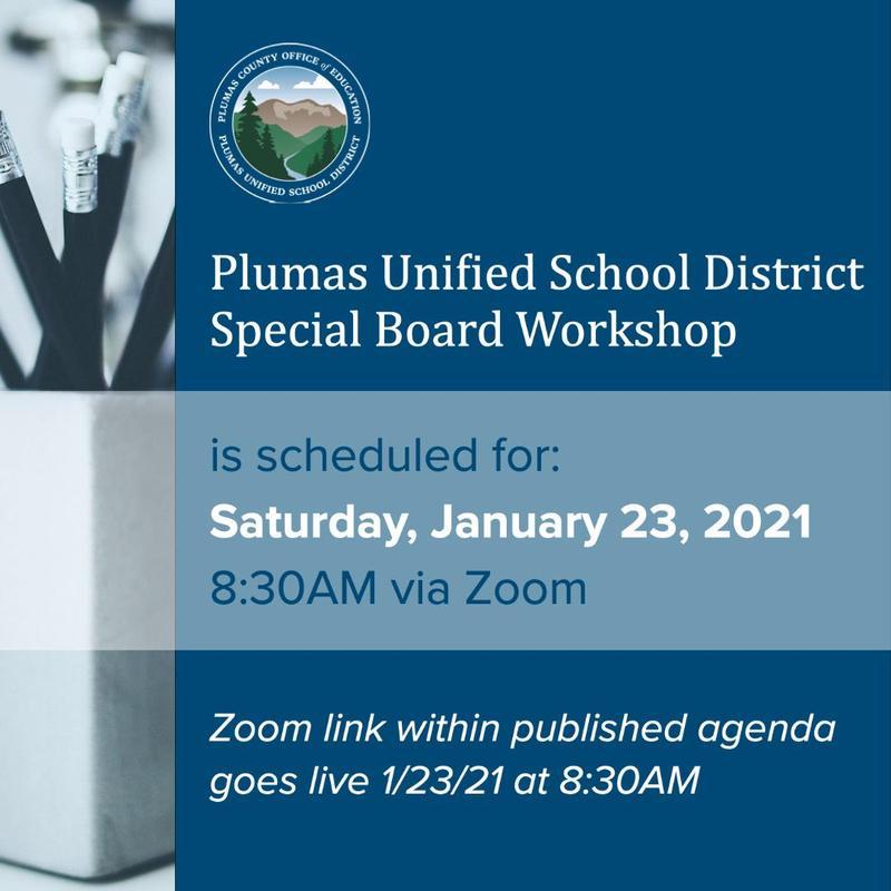 PUSD special board workshop agenda 1/23/21