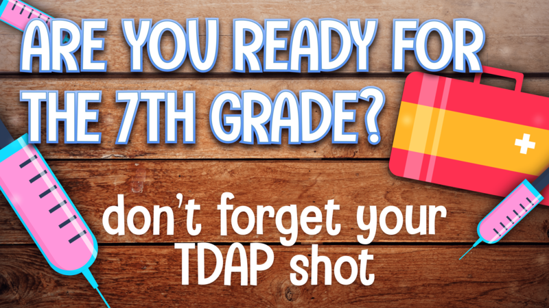 Tdap needed for all incoming 7th graders Featured Photo
