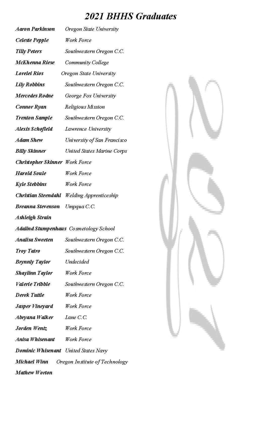 BHHS Grad Program Page 6