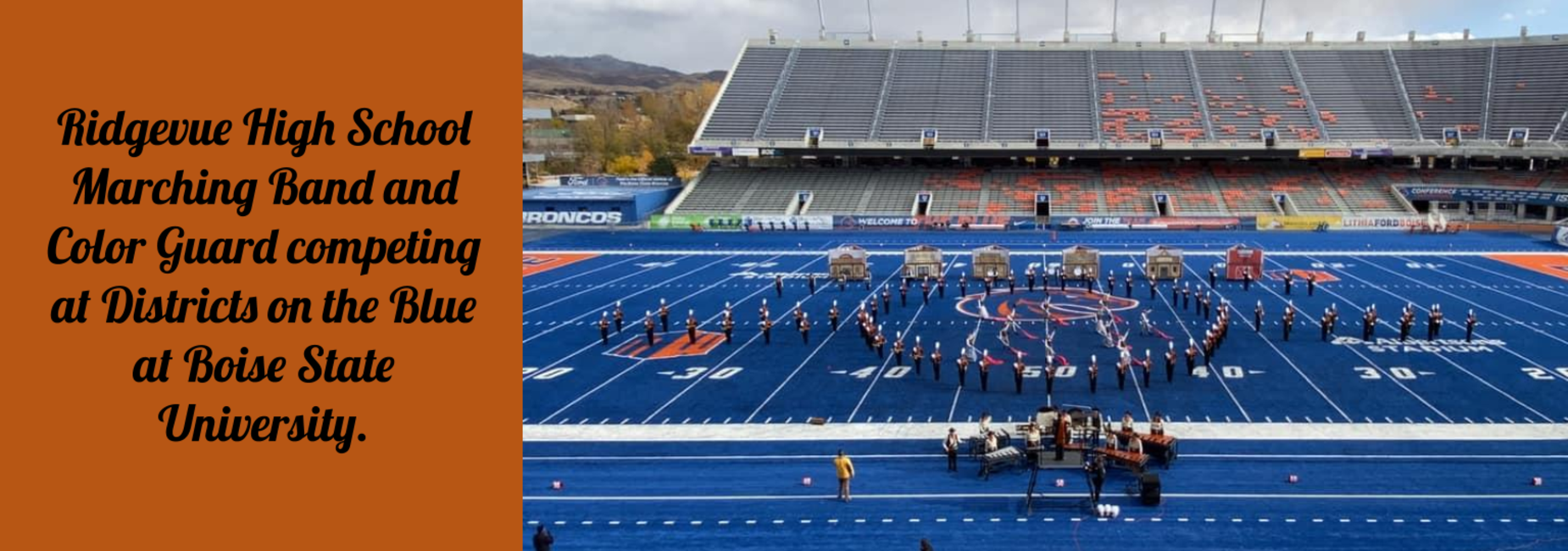 RHS Marching Band at District at Boise State