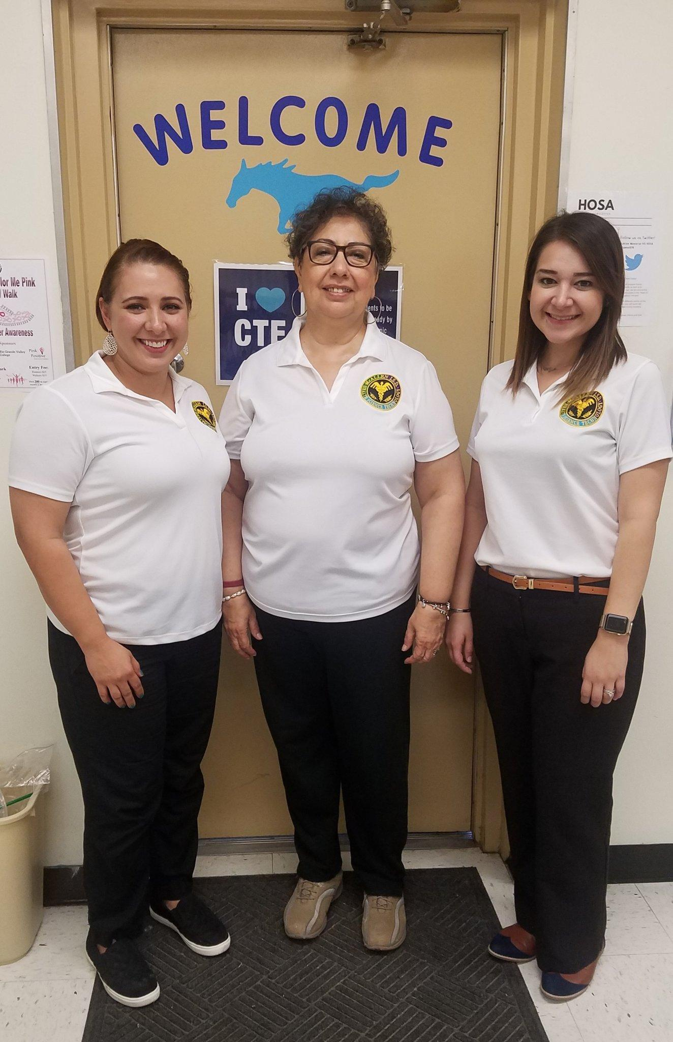 Three CTE instructors posing for picture