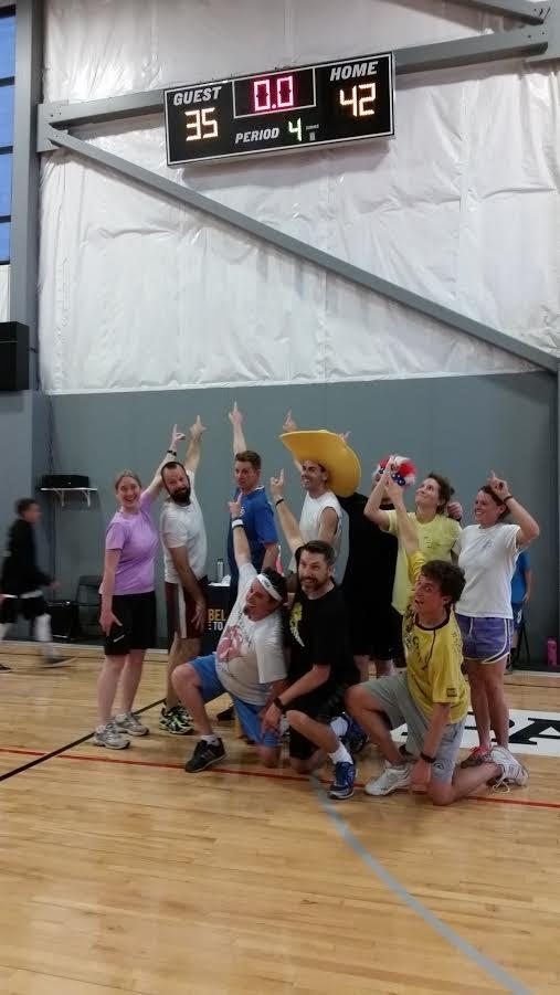 Staff takes the win at the student/staff ball game