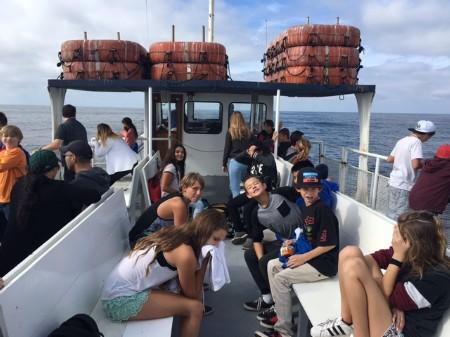 Students enjoying the boat ride