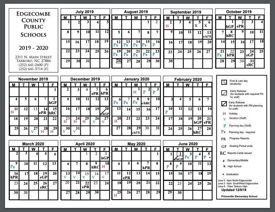Princeville Calendar