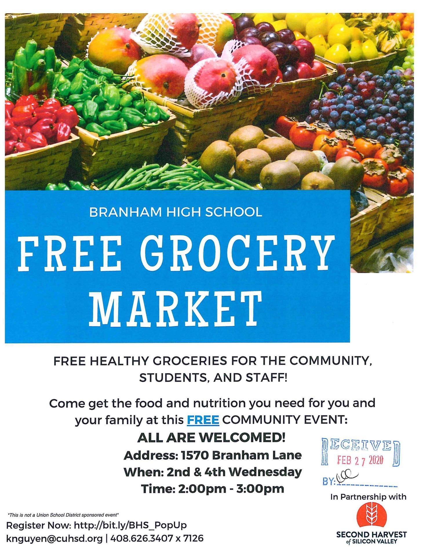 Branham High Free Grocery Market
