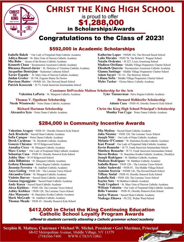 Congratulations to Christ the King's Class of 2023! Featured Photo
