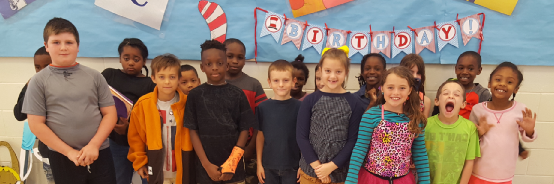 Class with Dr. Seuss bulletin board