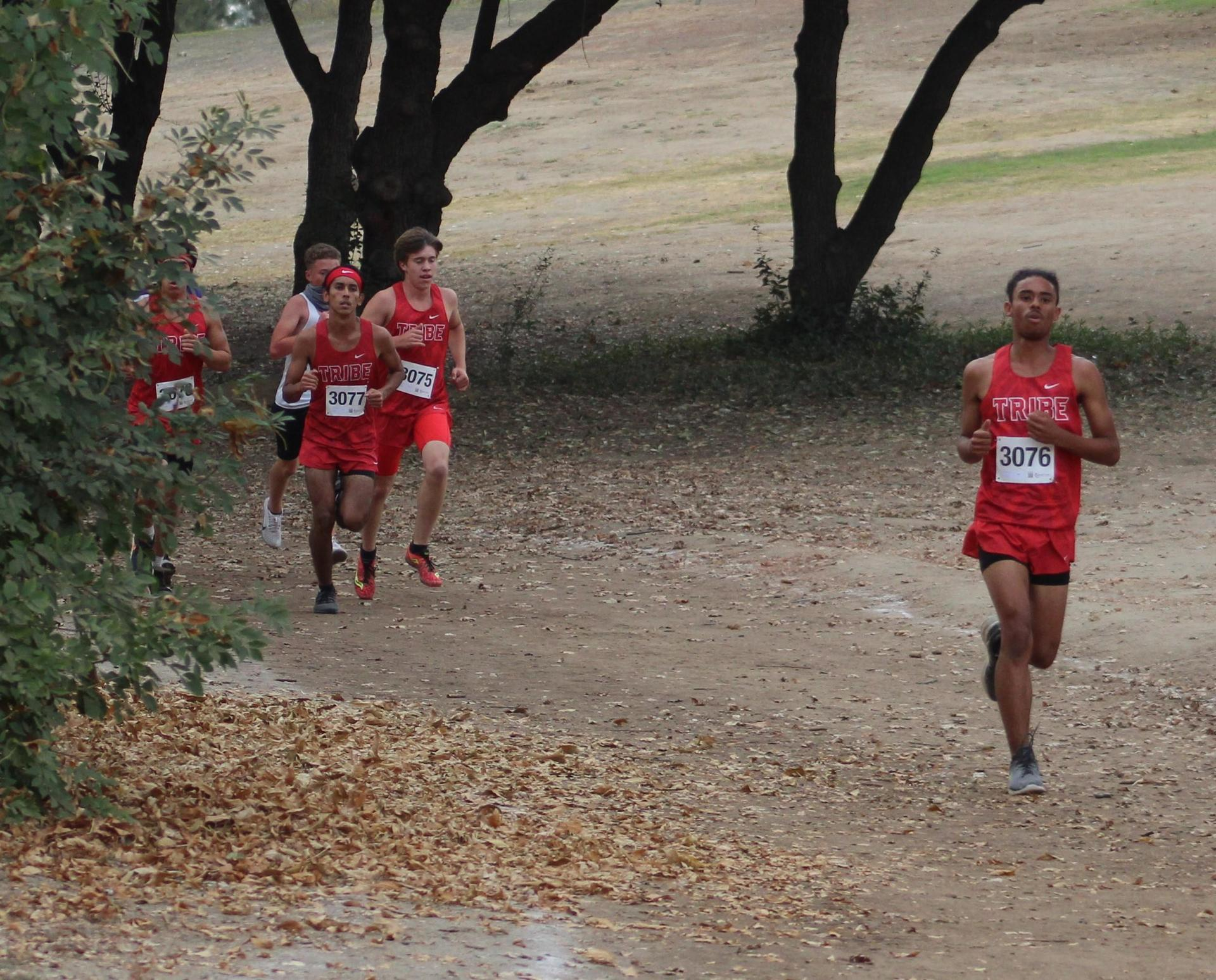 Lawerence Luna, Nicholas Martinez, and Nick Upton racing at woodward park