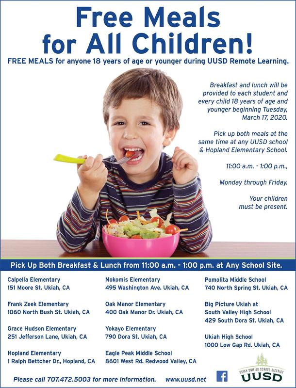 Free Meals For All Children