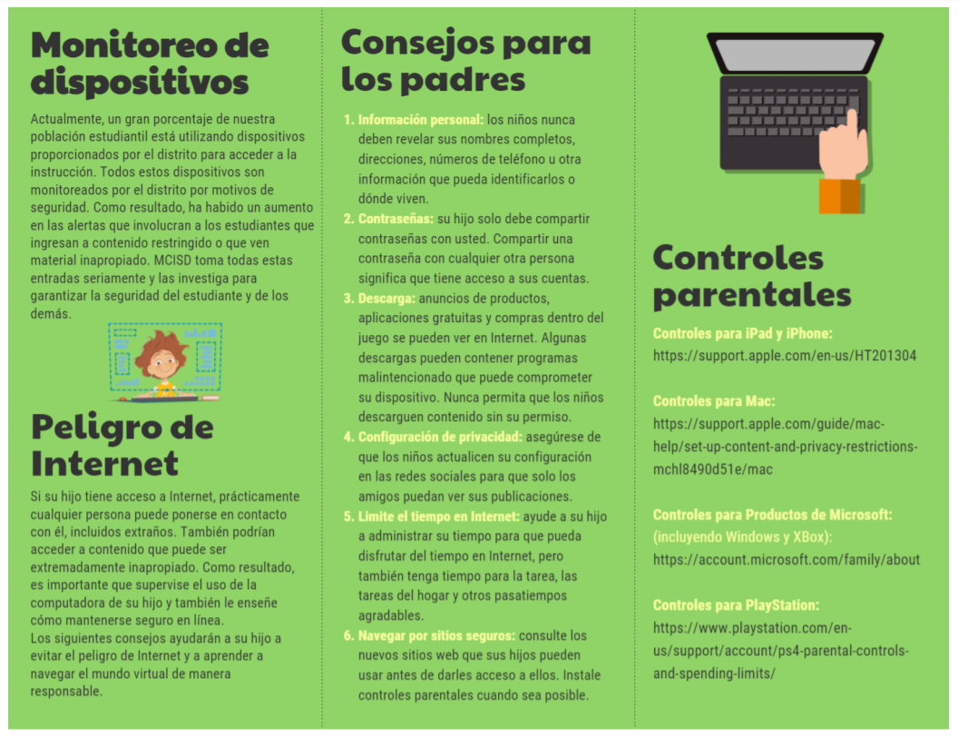 Internet Safety Tips in Spanish page 2