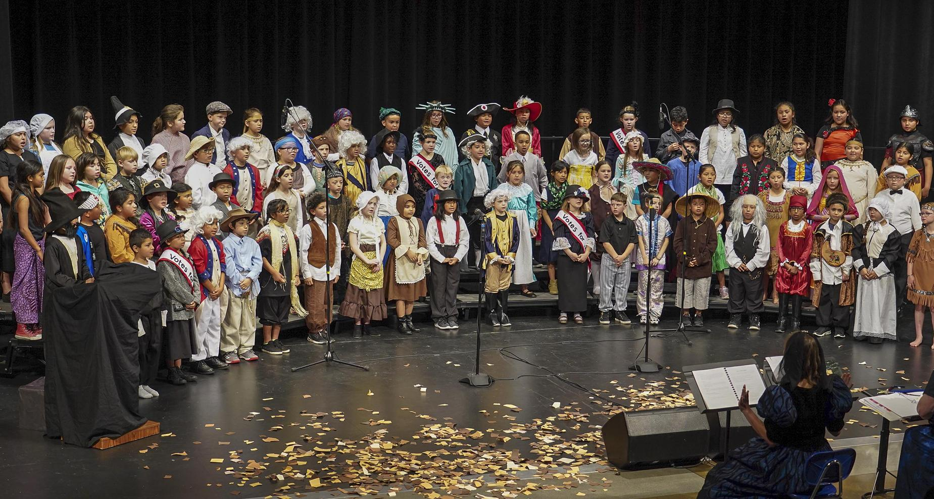 Third grade class performs