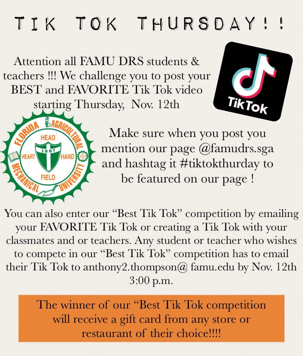 Tik Tok Thursday Flyer