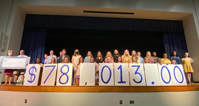 Students reveal amount raised in Camp Kemo drive