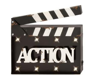 Prop with the words Action