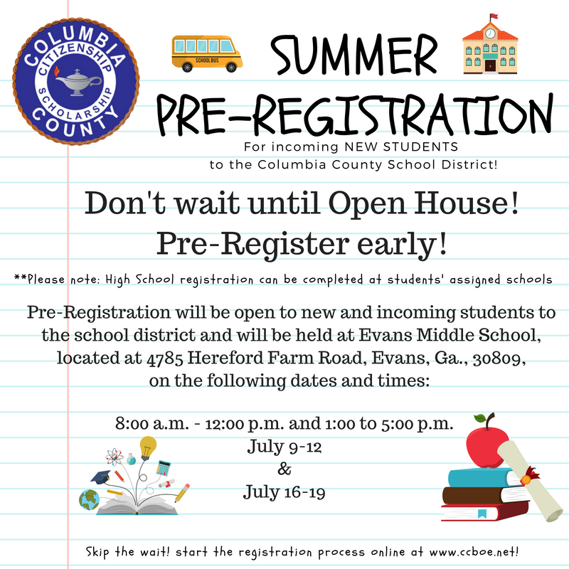 Summer Pre-Registration ongoing this week Featured Photo