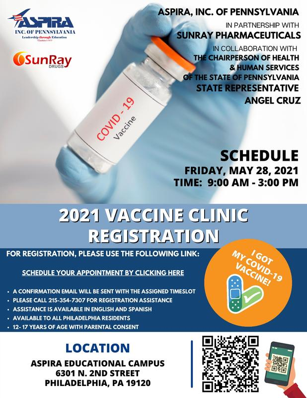 VACCINE CLINIC FRIDAY, MAY 28 2021, NOW ACCEPTING 12- 17 YEARS OF AGE Featured Photo