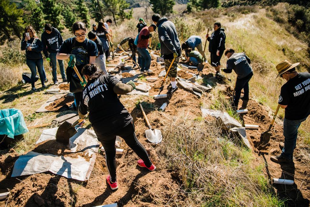 Lennox students volunteer with Tree People