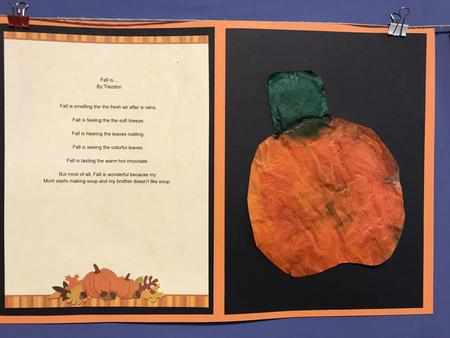 Fall is poem with pumpkin art